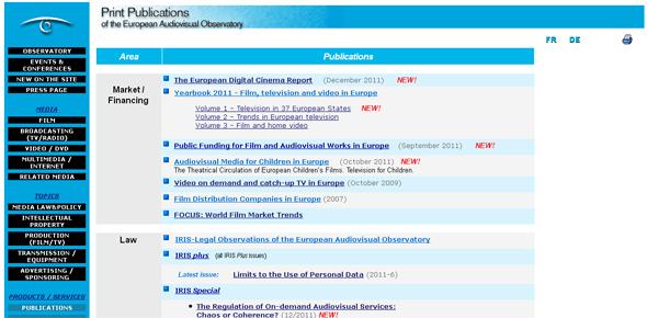European Observatory Audiovisual