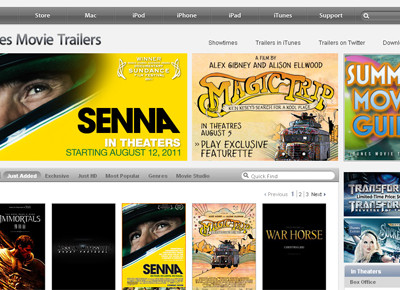 Apple Movie Trailers
