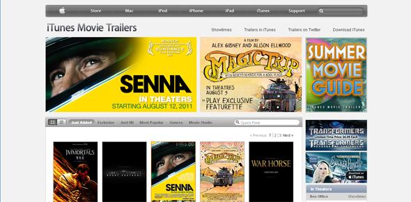 Apple Movie Trailers