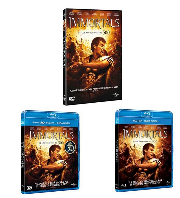 Inmortals dvd