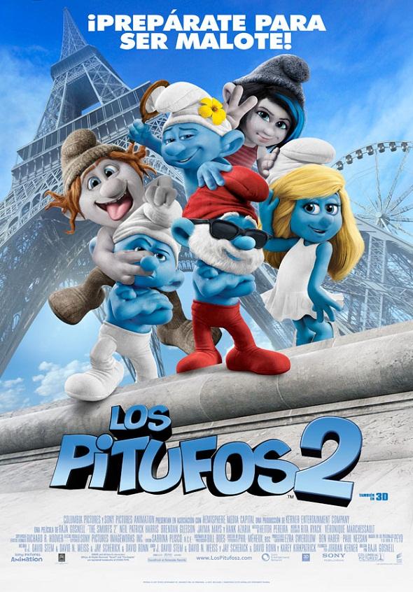 Cartel Final de los Pitufos 2