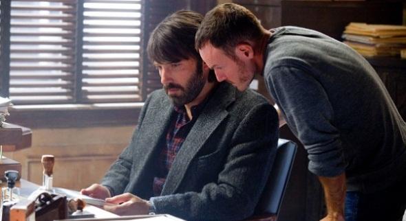 Chris Terrio junto a Ben Affleck en el rodaje de 'Argo'