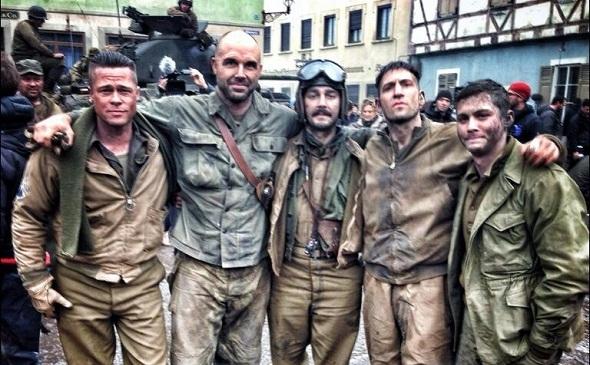 Brad Pitt encabeza el reparto de 'Fury'