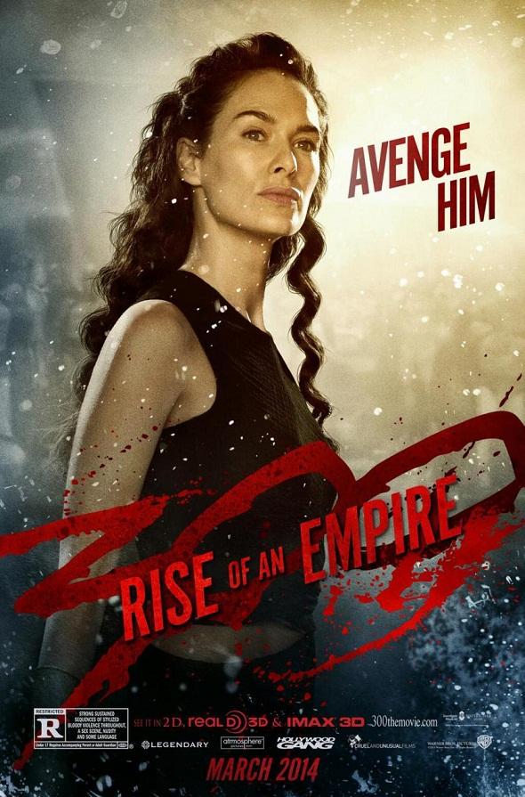 Lena Headey en el póster de '300: El origen de un imperio'