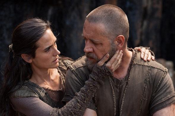Jennifer Connelly y Russell Crowe en 'Noé'