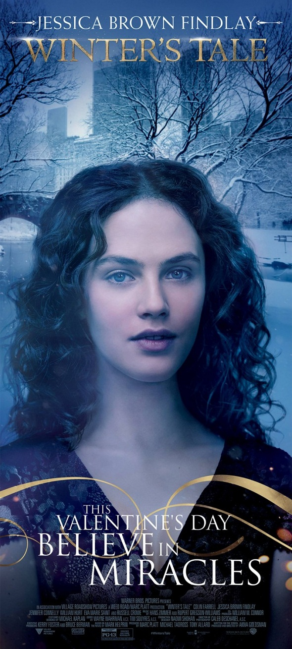 Póster de 'Winter´s tale' con Jessica Brown Findlay