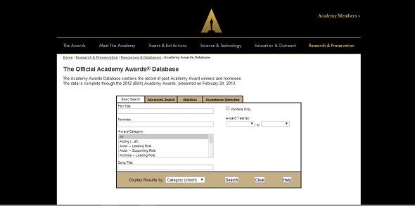 Base de datos de la Academia