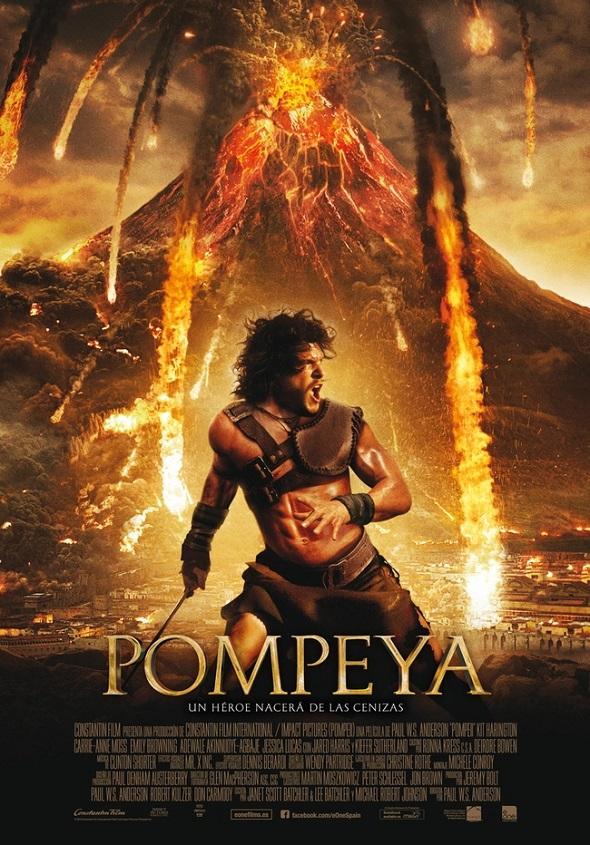 Pompeya. Póster en español.