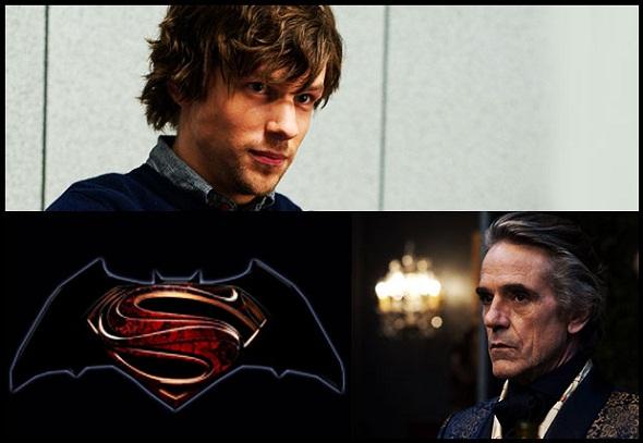 Jesse Eisenberg y Jeremy Irons se suman a 'Batman vs Superman'
