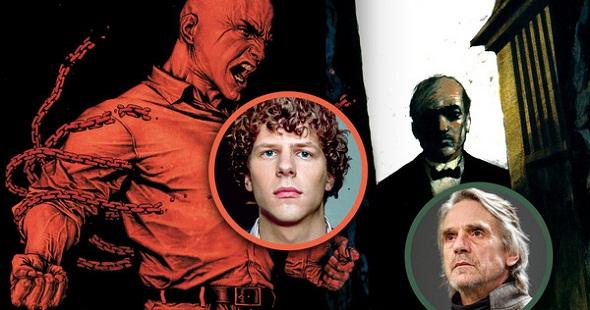 Eisenberg y Irons dan vida a Lex Luthor y a Alfred, respectivamente
