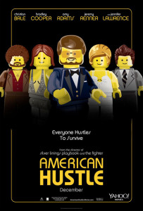 Póster de Lego para 'La gran estafa americana'
