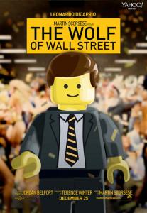 Póster de Lego para 'El lobo de Wall Street'