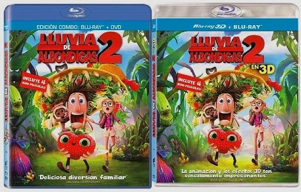 Lluvia de albóndigas. Ediciones Blu-ray