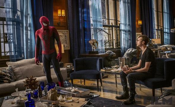 Spiderman con su viejo amigo Harry Osborn