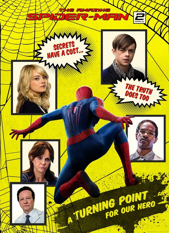 Póster homenaje de 'The amazing Spider-Man 2: El poder de Electro'