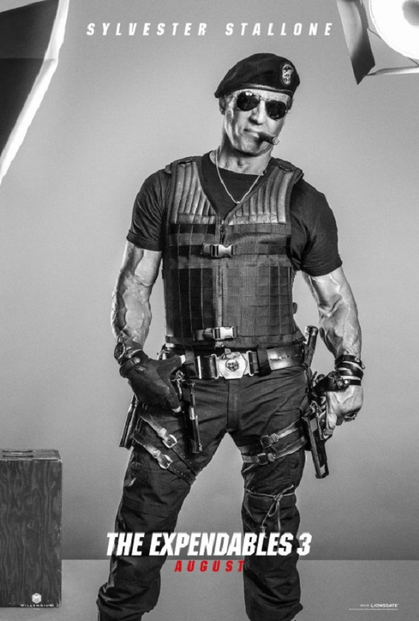 Póster de Sylvester Stallone en 'Los mercenarios 3'