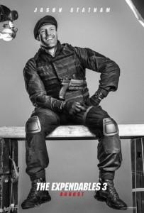 Póster de Jason Statham en 'Los mercenarios 3'