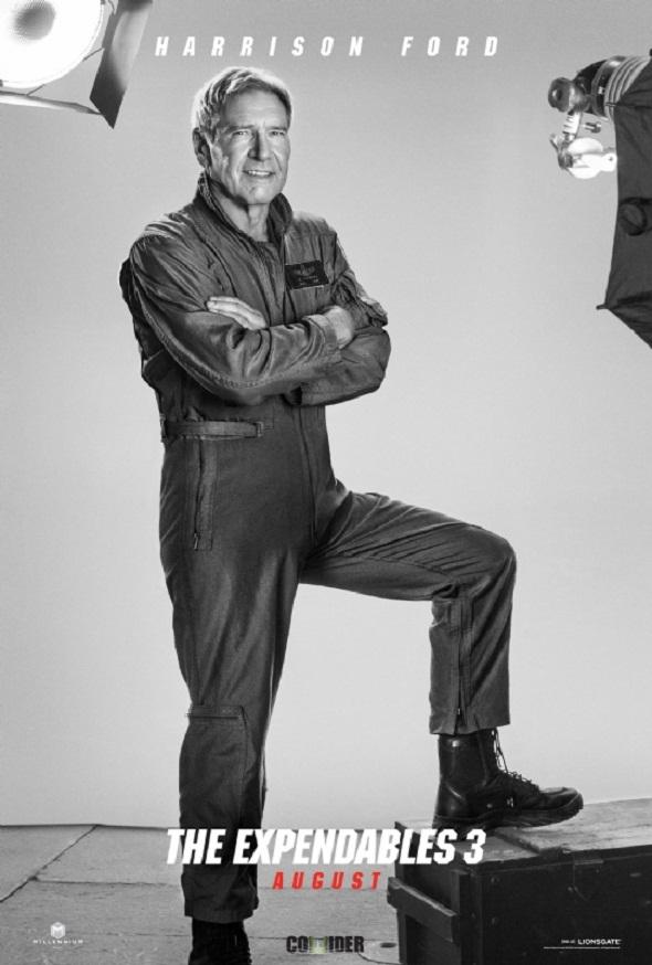 Póster de Harrison Ford en 'Los mercenarios 3'