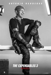 Póster de Antonio Banderas en 'Los mercenarios 3'