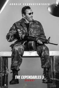 Póster de Arnold Schwarzenegger en 'Los mercenarios 3'
