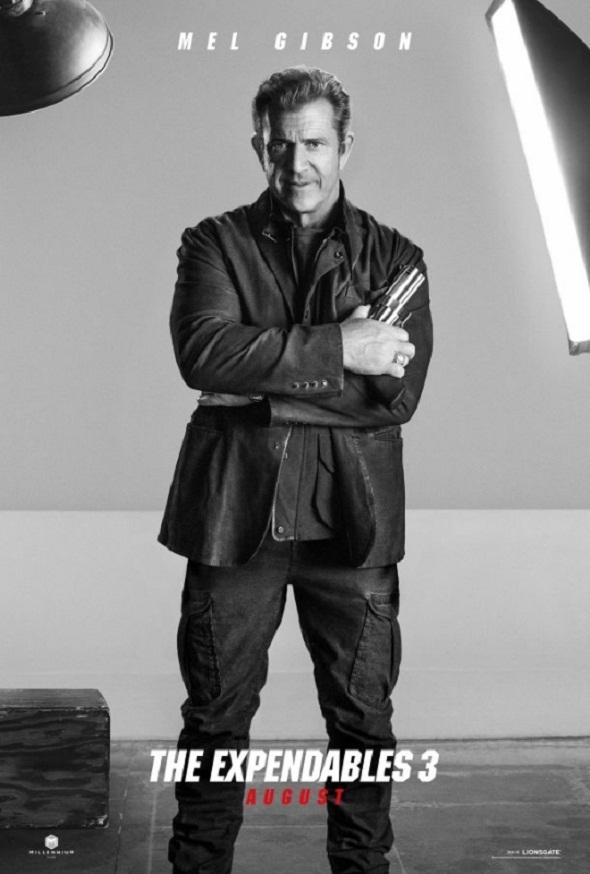 Póster de Mel Gibson en 'Los mercenarios 3'