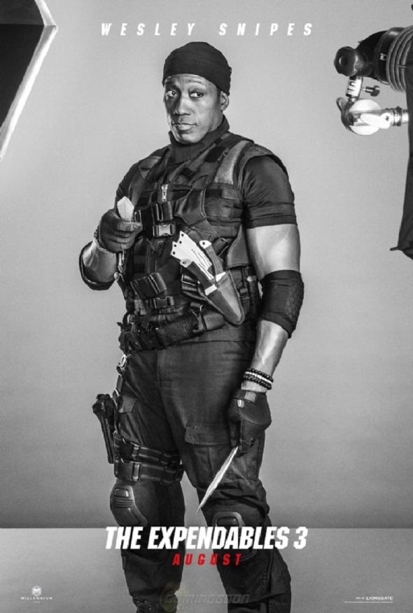 Póster de Wesley Snipes en 'Los mercenarios 3'