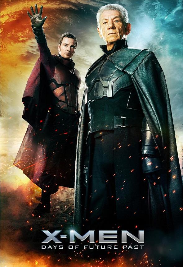 Joven y maduro Magneto en 'X-Men: Días del futuro pasado'
