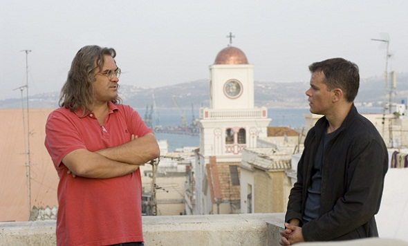 Matt Damon junto a Paul Greengrass en el rodaje de 'El ultimátum de Bourne'