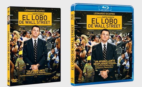 El lobo de Wall Street. Edición DVD y BD