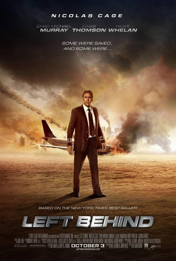 Nicolas Cage contra los elementos en el póster de 'Left behind'