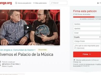 Petición de firmas para el palacio de la música