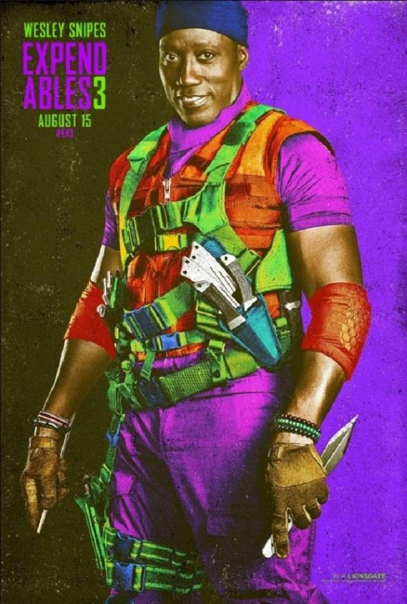 Wesley Snipes también debuta en 'Los mercenarios'