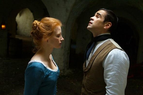 Jessica Chastain y Colin Farrell en 'Miss Julie'