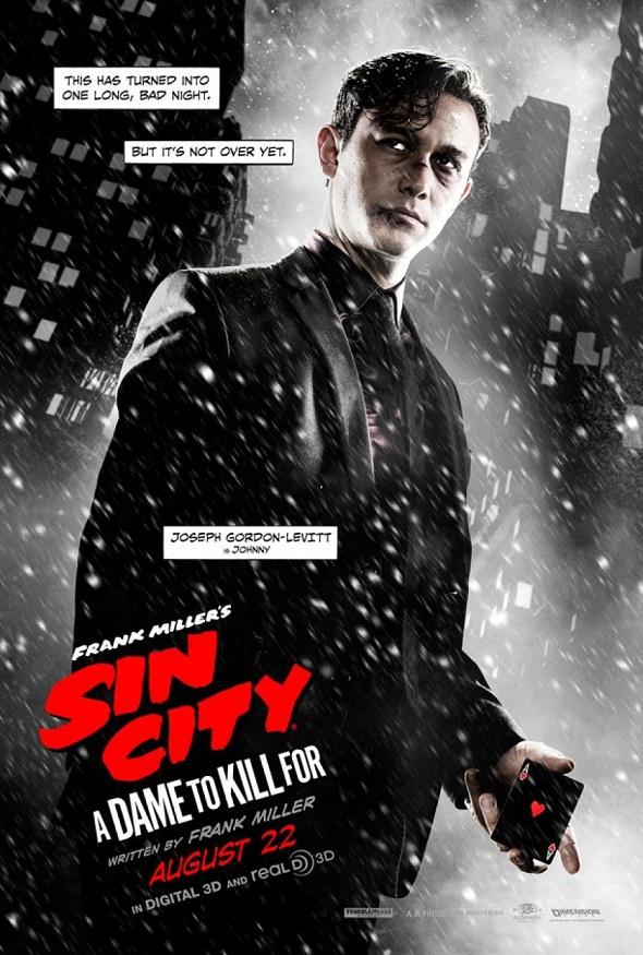 Póster de 'Sin city: Una dama por la que matar' con Joseph Gordon Levitt
