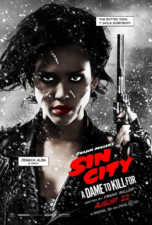 Póster de Jessica Alba para la nueva entrega de 'Sin city'