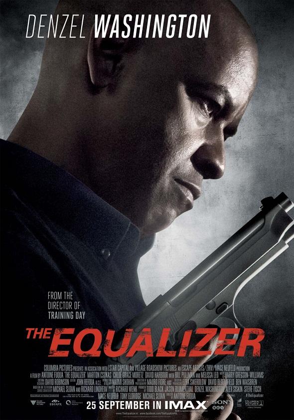 Temible Washington en el nuevo póster de su film