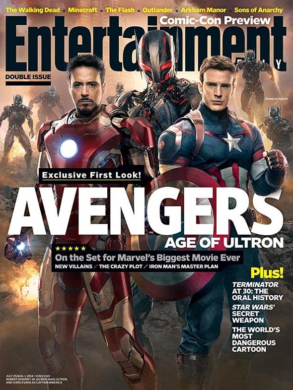 Portada de Entertainment Weekly con la secuela de 'Los vengadores'