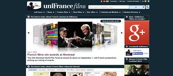 Unifrance Films. Base de datos