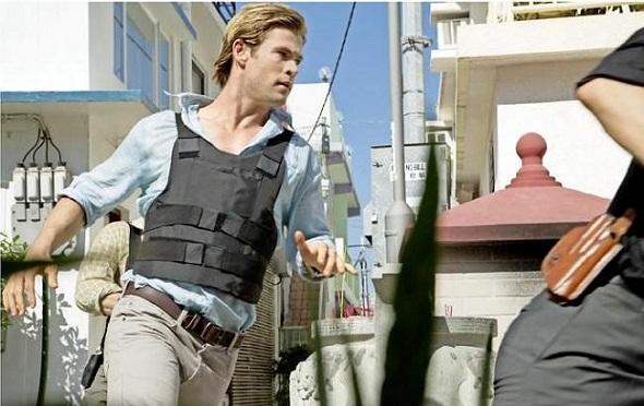 Chris Hemsworth en el rodaje de 'Blackhat'
