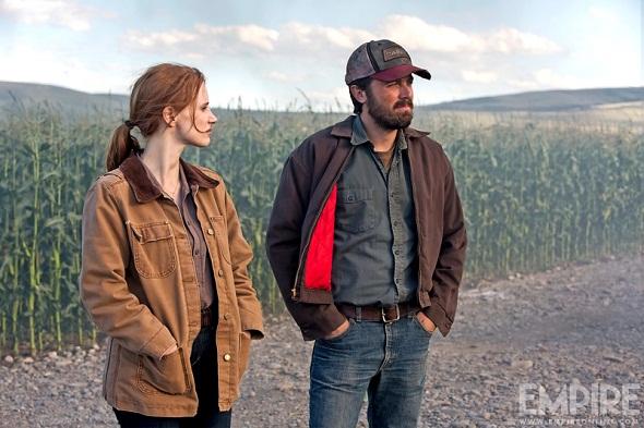 Jessica Chastain y Casey Affleck en otro momento del film