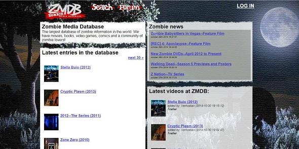 Zombie Media Data Base