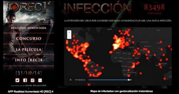 El Mapa de infectados de Rec 4