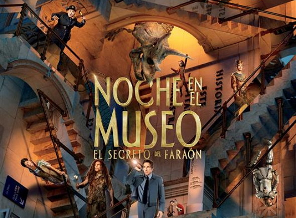 Póster en español de Noche en el Museo: El secreto del Faraón (Night at the Museum: Secret of the Tomb)