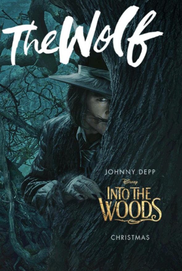 El lobo de Johnny Depp también se asoma a 'Into the woods'