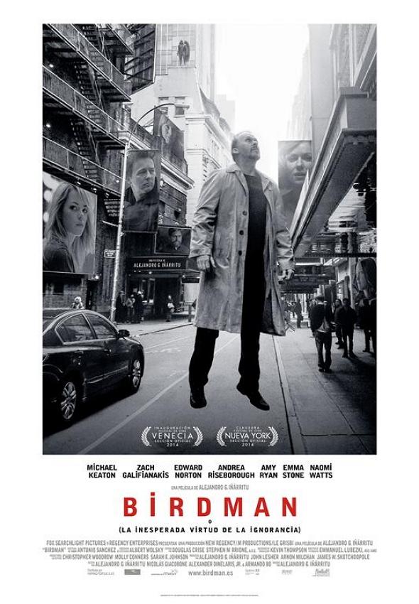 Póster en español de Birdman o (la inesperada virtud de la ignorancia)
