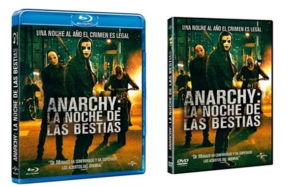 Edición DVD y BD de Anarchy: La noche de las bestias