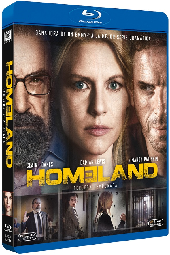 Tercera temporada de 'Homeland' en Bluray