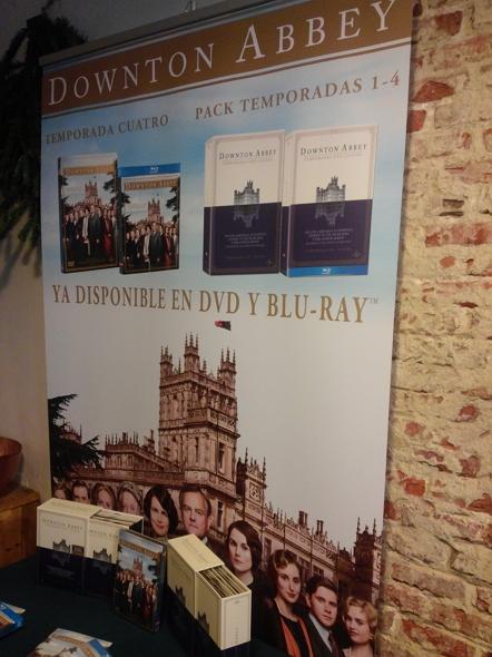 El stand de presentación de las ediciones domésticas de 'Downton Abbey'