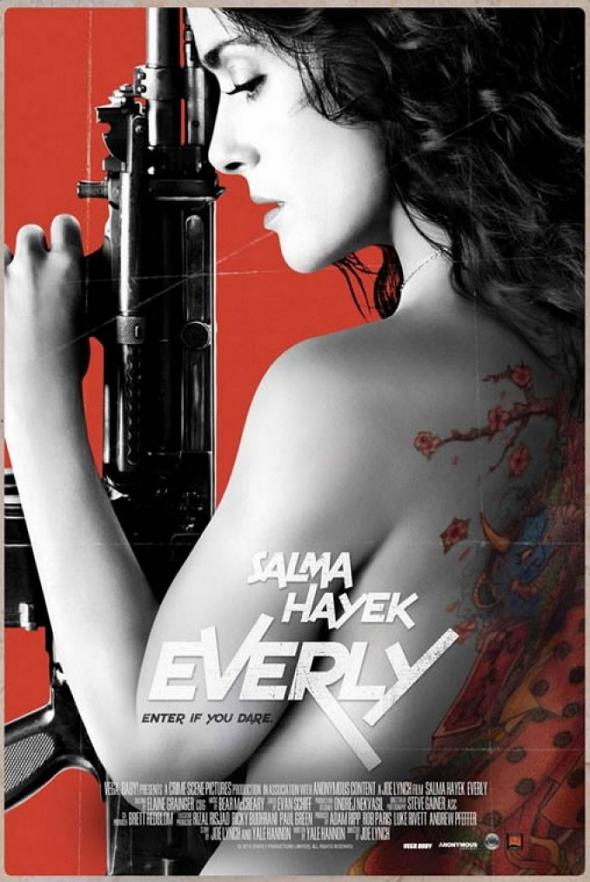 Salma Hayek protagoniza el póster de 'Everly'