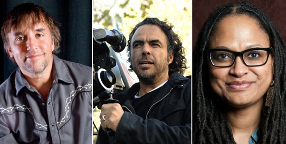 Richard Linklater, Alejandro González Iñárritu y Ava DuVernay